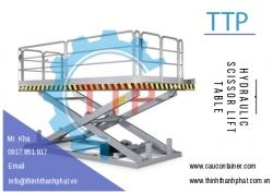 Bàn nâng thủy lực - Hydraulic scissor lift table