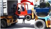 Cầu xe nâng - giải pháp lên xuống hàng container an toàn, hiệu quả